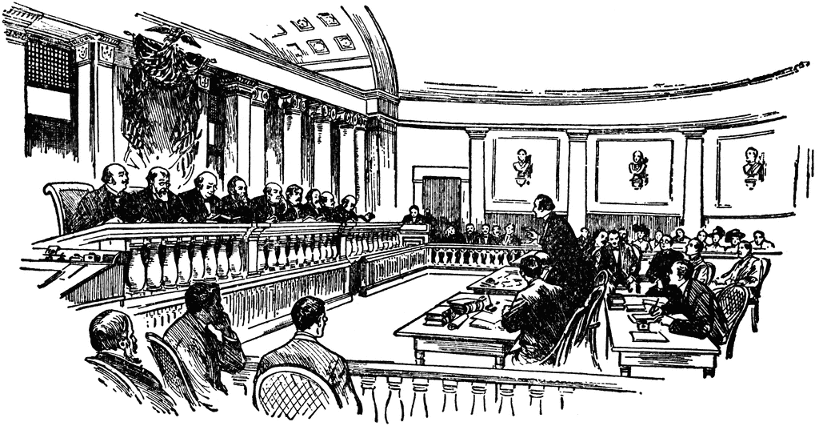 Old Fashioned Courtroom Picture
